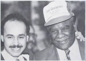 An early photo of Luis Gutierrez, the first Latino elected to Congress, and Chicago Mayor Harold Washington. Courtesy of the Official Facebook Page of Congressman Luis V. Gutierrez