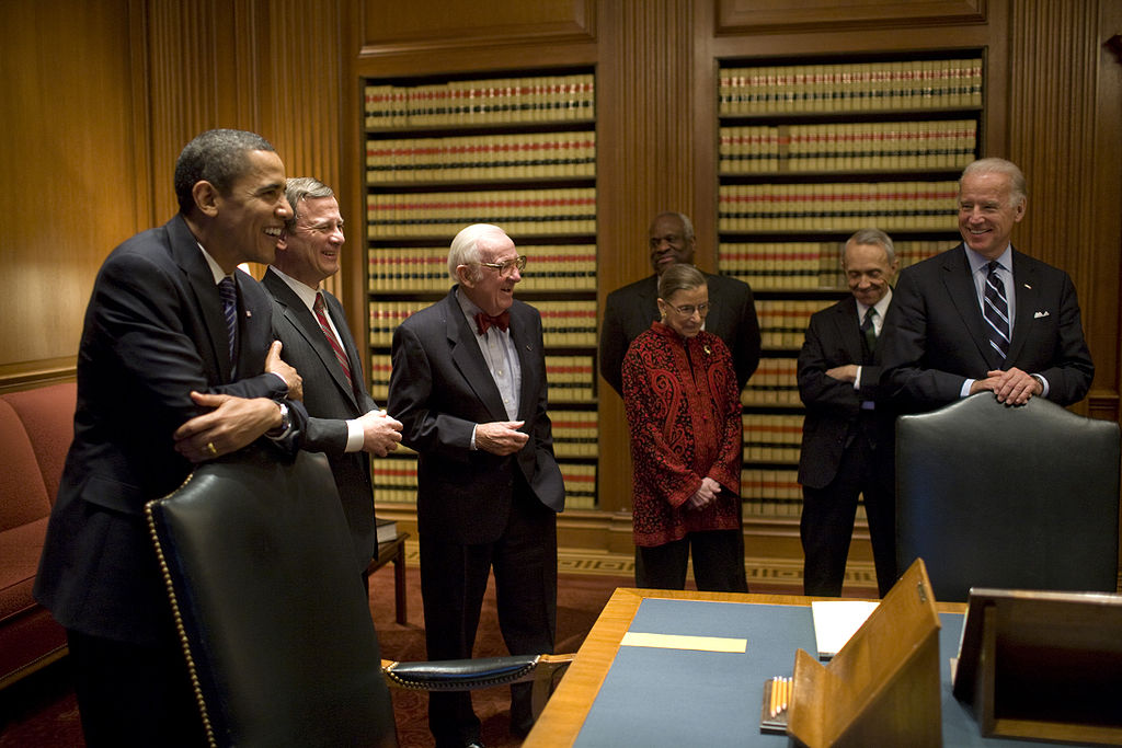 President Obama and VP Biden with Supreme Court Justices. Photo courtesy of flickr user Pete Souza.