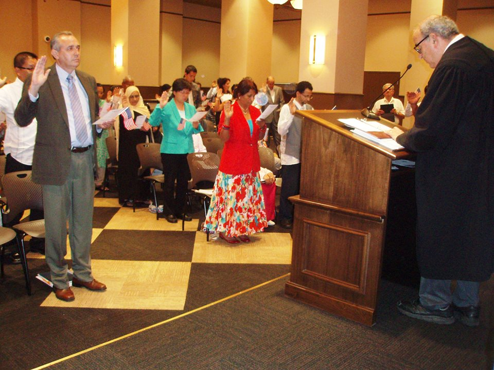 Felipe Davila's Naturalization Ceremony on July 27, 2015