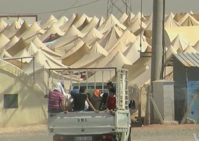 """""""Syrian refugee camp on theTurkish border"""" by Voice of America News: Henry Ridgwell"""