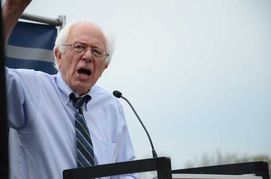 Sen. Bernie Sanders at #StopFastTrack Rally in D.C., courtesy of Flickr user AFGE