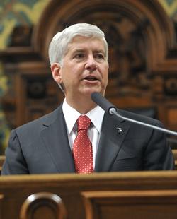 Michigan Governor Rick Snyder.